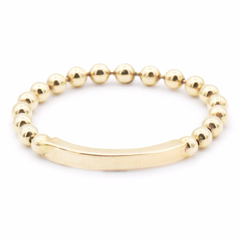 .LYC 14K gold bead soft ring
