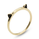 . LYC 14K gold black zircon ring