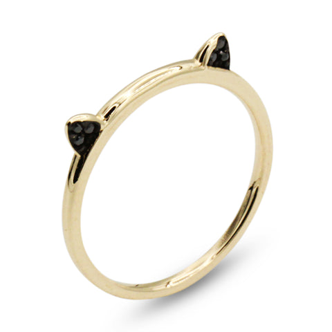 14K Cat Ear Ring - MOVIDA