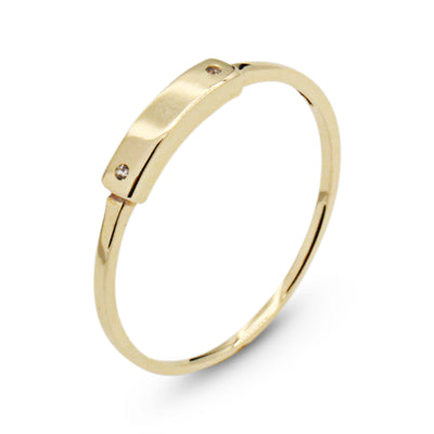 14K Spark Bar Ring - MOVIDA