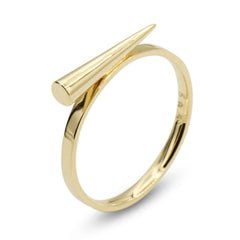 . LYC 14K gold spike ring