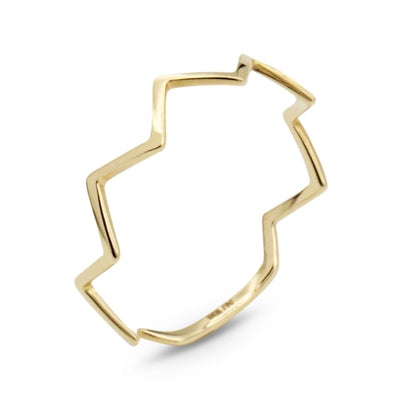14K Zig Zag Ring - MOVIDA