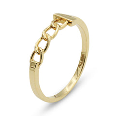 .LYC 14K gold chain ring