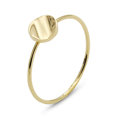 . LYC 14K gold orb ring