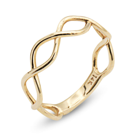 14K Vine Midi Ring - MOVIDA