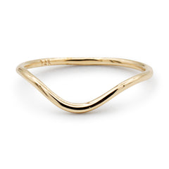 .LYC 14K gold dip midi ring