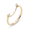 .LYC 14K gold zircon chain midi ring