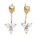 .Venus pearl diamond trio ear jackets