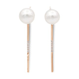 Venus Akoya pearl diamond swing earrings