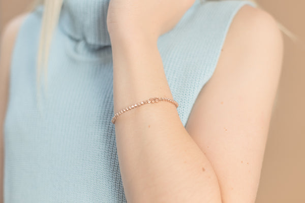 .FE-EVER 18K rose gold plated bracelet