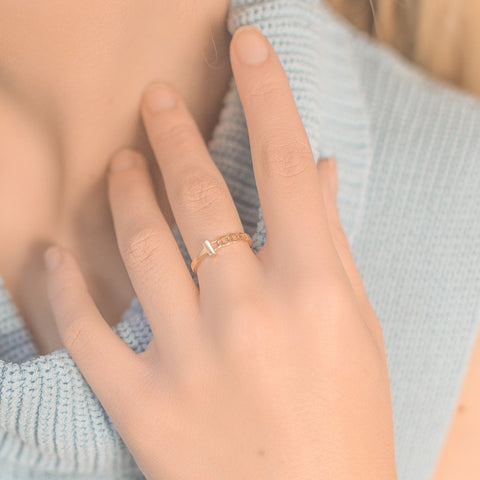 14K Chain Ring - MOVIDA