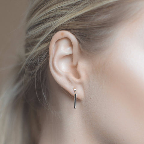 LYC 14K gold noir earrings