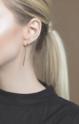 .LYC 14K gold asymmetrical orb earrings