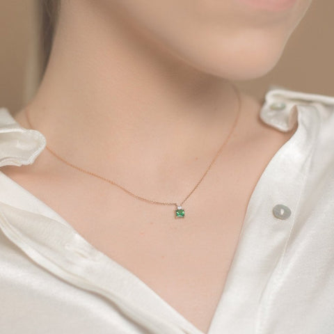 .Follow Me tsavorite diamond necklace