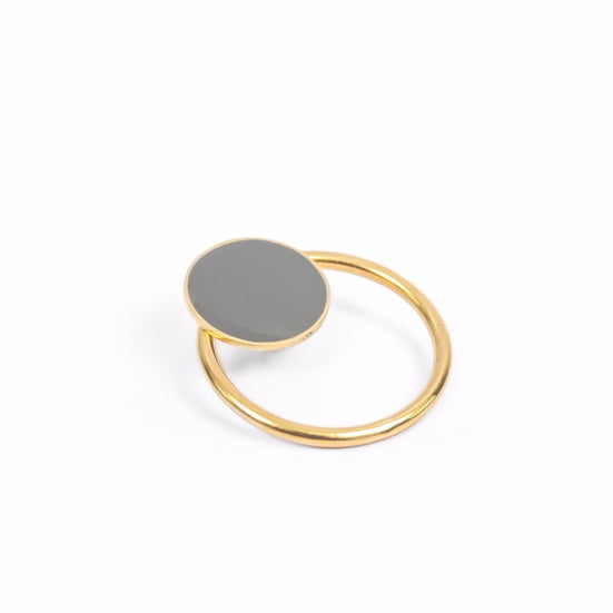 Kara Ring and Coin Earring