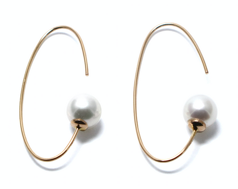 penrose circle pearl earrings goi jewelry independent designer jewelry movida