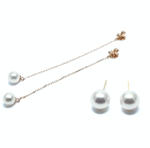 Unica pearl gold earrings