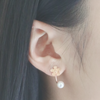 Blossom pearl gold ear jackets