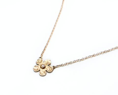 Blossom diamond gold necklace