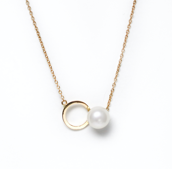 Penrose pearl gold necklace