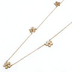 Blossoms diamond gold necklace