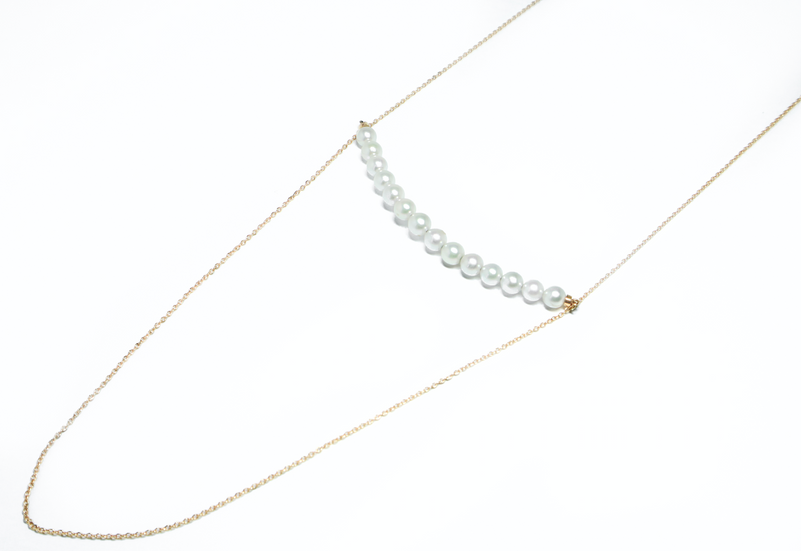 Meraki pearl gold necklace