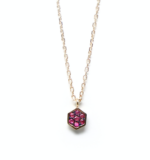 Rosa ruby gold necklace