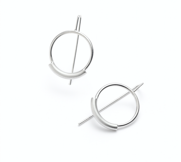 .  Curved line earrings