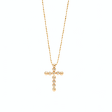 Spherical Cross Diamond Necklace