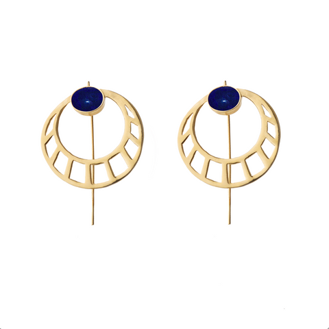 Egyptian Round Earrings