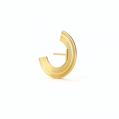 Wide Orbit Lobe Earrings