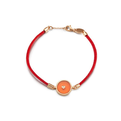 Lone Star String Bracelet - Red