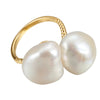 .Odd soul baroque pearl ring