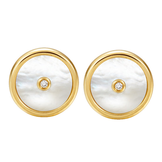 Lone star mother-of-pearl ear studs