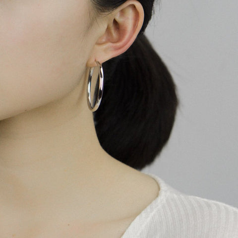 Classic Silver Hoops