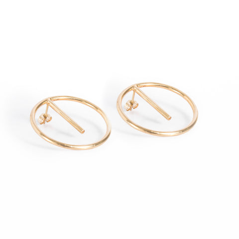 Ring and Bar Earrings
