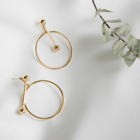 Agatha Gold Earrings - MOVIDA