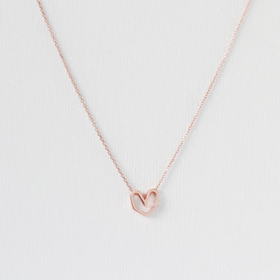 Geometric Heart Necklace - MOVIDA