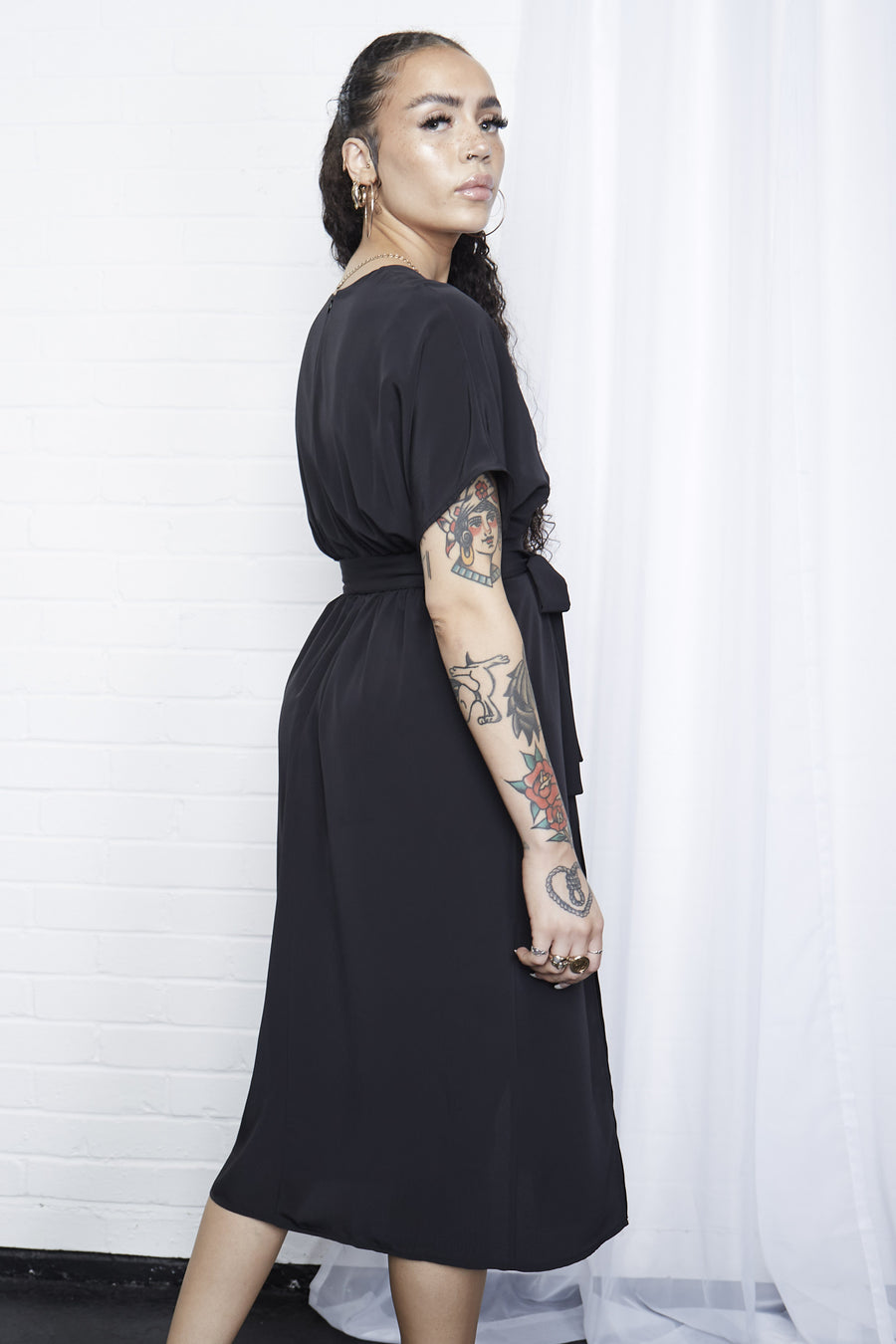 Bathory Plunge Midi Dress