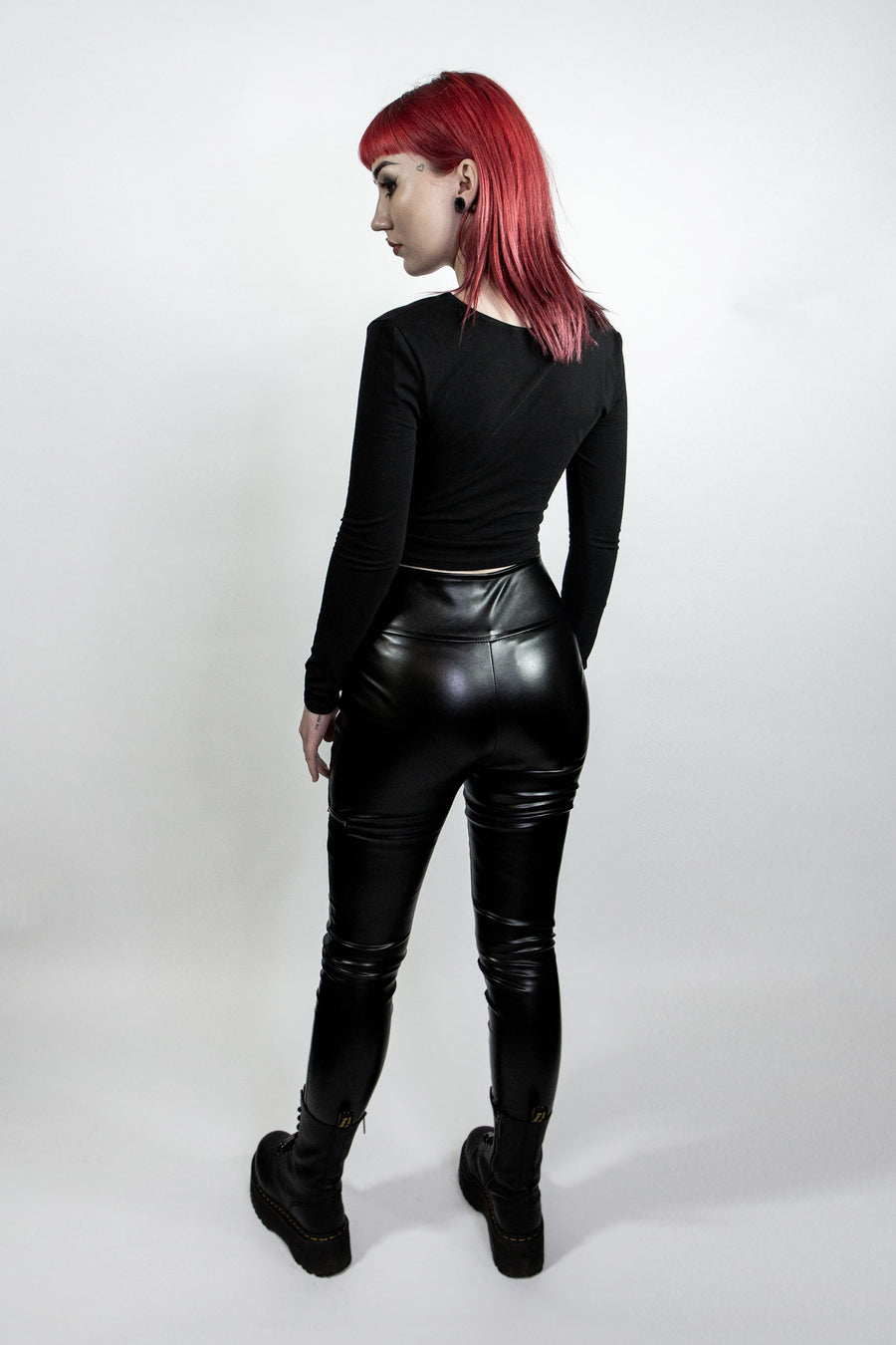 Brody Faux Leather Biker Trousers