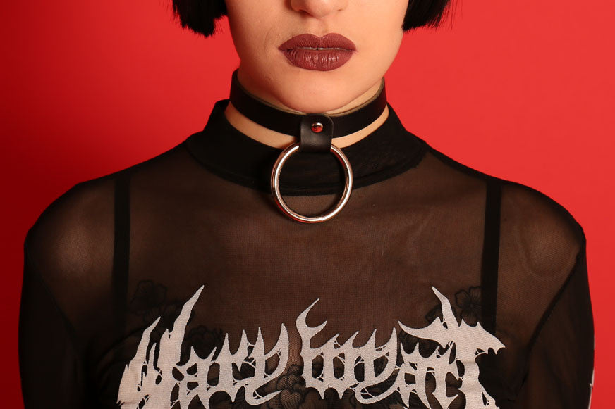 leather choker mary wyatt