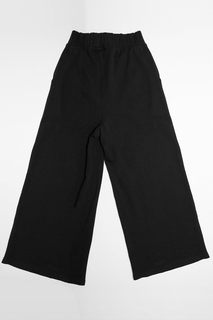 black culottes with barbed wire embroidery on pockets alternative womens fashion