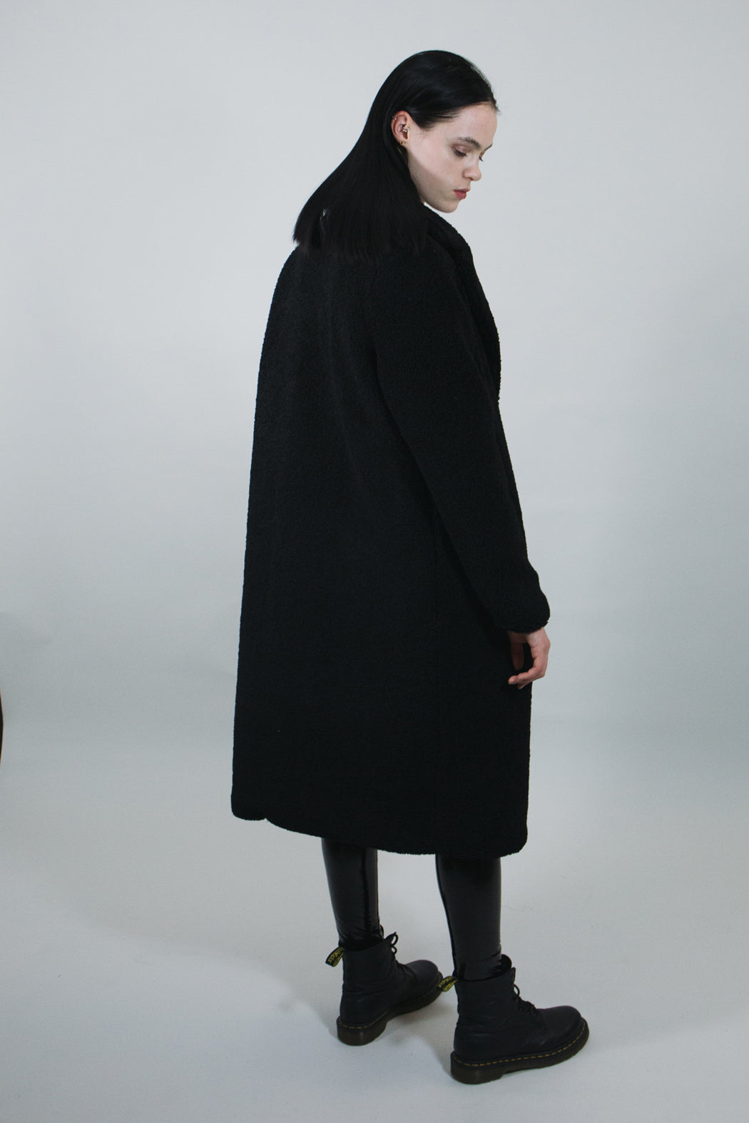 mary wyatt london long black teddy coat alternative goth fashion