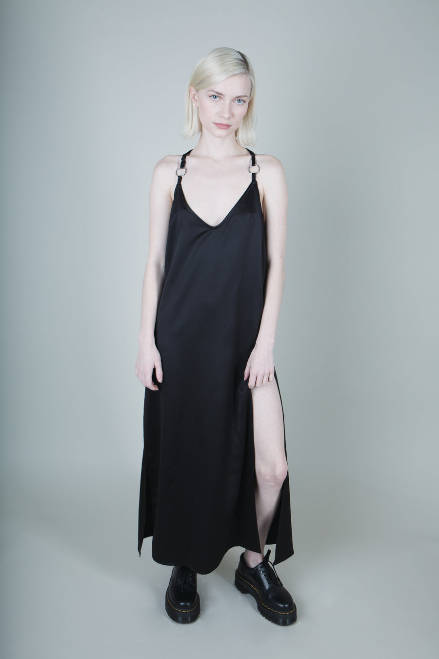 Jamie O-Ring Satin Maxi Dress