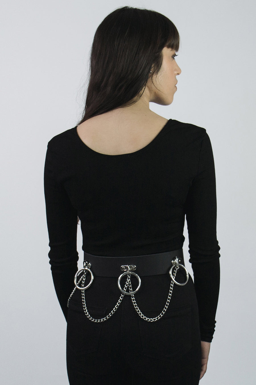 Obituary Leather Ring Belt