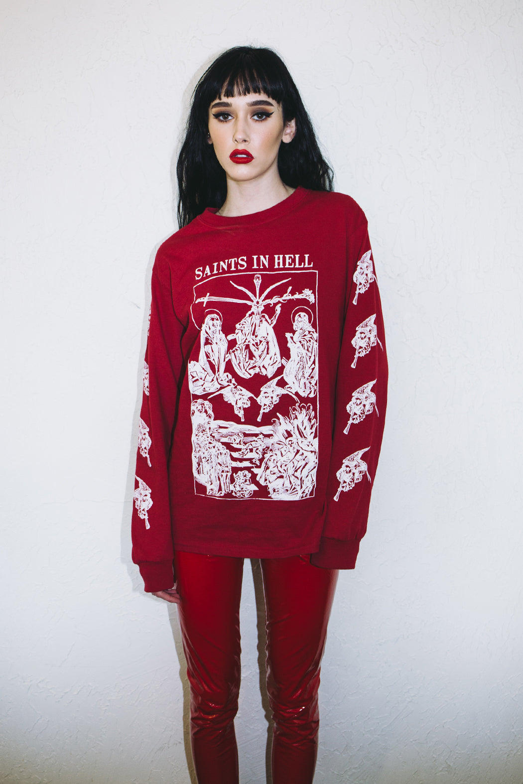 Saints In Hell Red Long Sleeve
