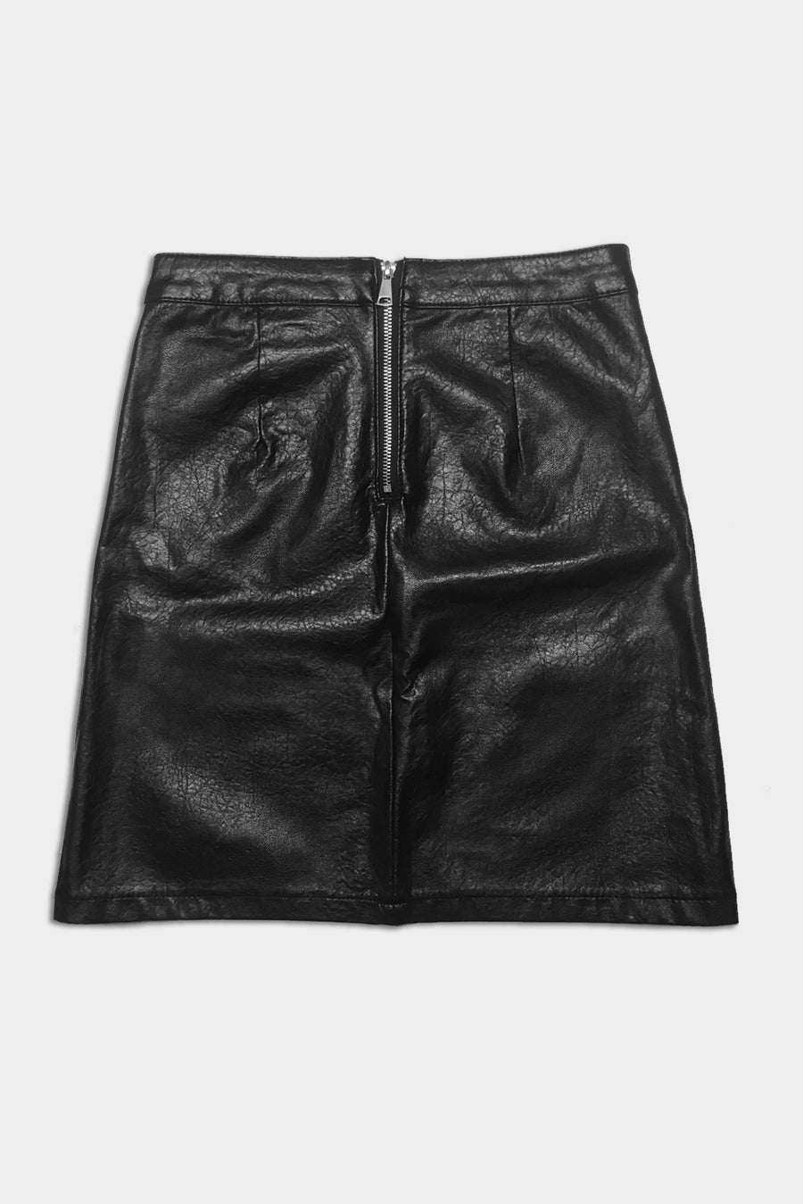 Dagger Vegan Leather Skirt