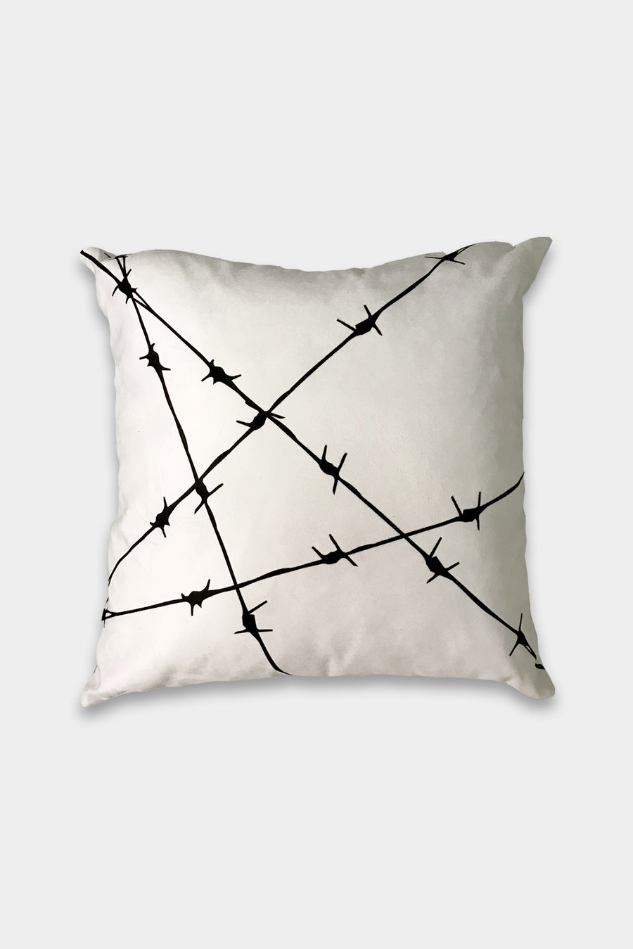 White Barbed Cushion