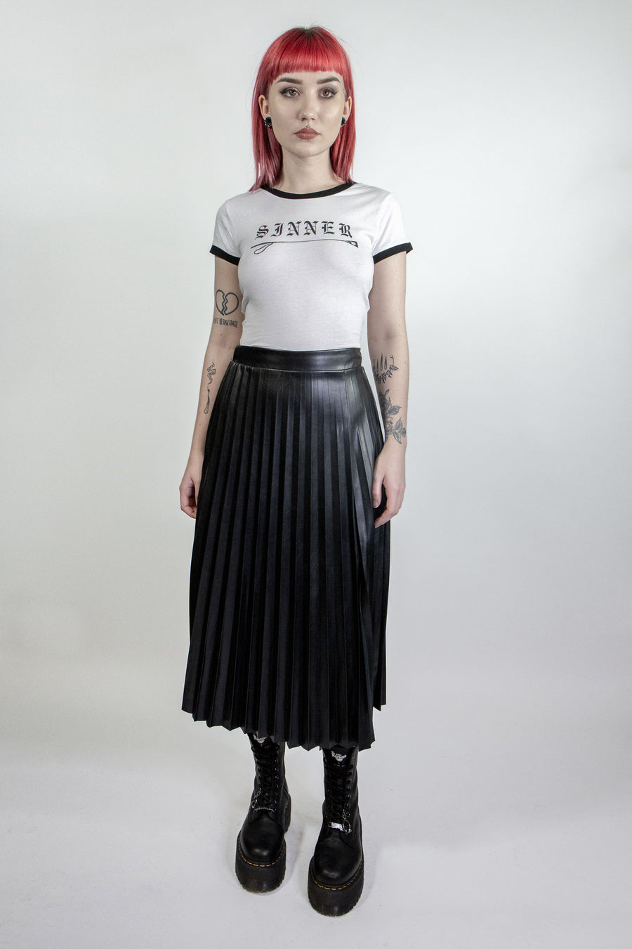 Widow Pleated Midi Skirt
