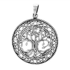 925 Sterling Silver Tree of Life Celtic Infinity Knots Pendant - SilverMania925